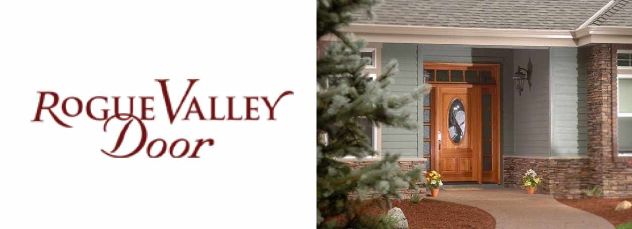 Rouge Valley Door logo with Rouge Valley front door of house