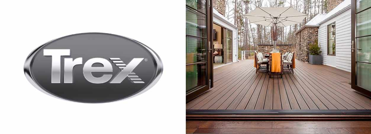 Trex decking with Trex logo