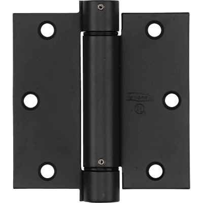 National 3.5 In. Square Oil Rubbed Bronze Spring Door Hinge