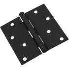National 4 In. Square Black Door Hinge Image 1