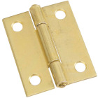 National 2 In. Brass Tight-Pin Narrow Hinge (2 Count) Image 1