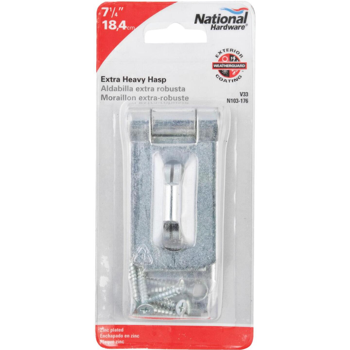 National 1-7/8 In. x 7-1/4 In. Zinc Hasp Image 2