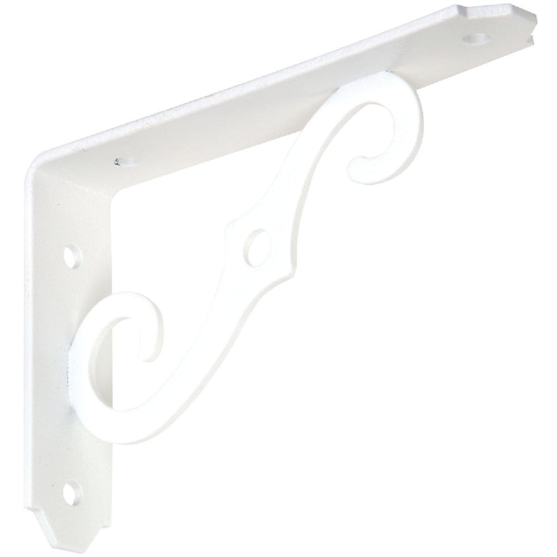 National 152 5 In. D. x 3-1/2 In. H. Antique White Steel Ornamental Shelf Bracket/Plant Hanger Image 1