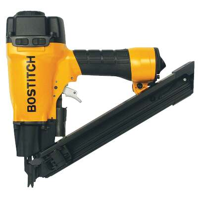 Bostitch 35 Degree 1-1/2 In. Paper Tape Strapshot Metal Connector Framing Nailer with Short Magazine