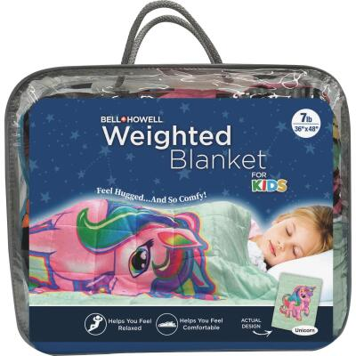 Bell+Howell Kids 7 Lb. Weighted Blanket- Unicorn