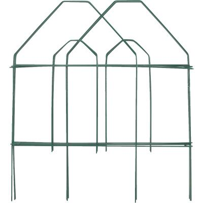 Best Garden 8 Ft. Green Galvanized Wire Folding Fence