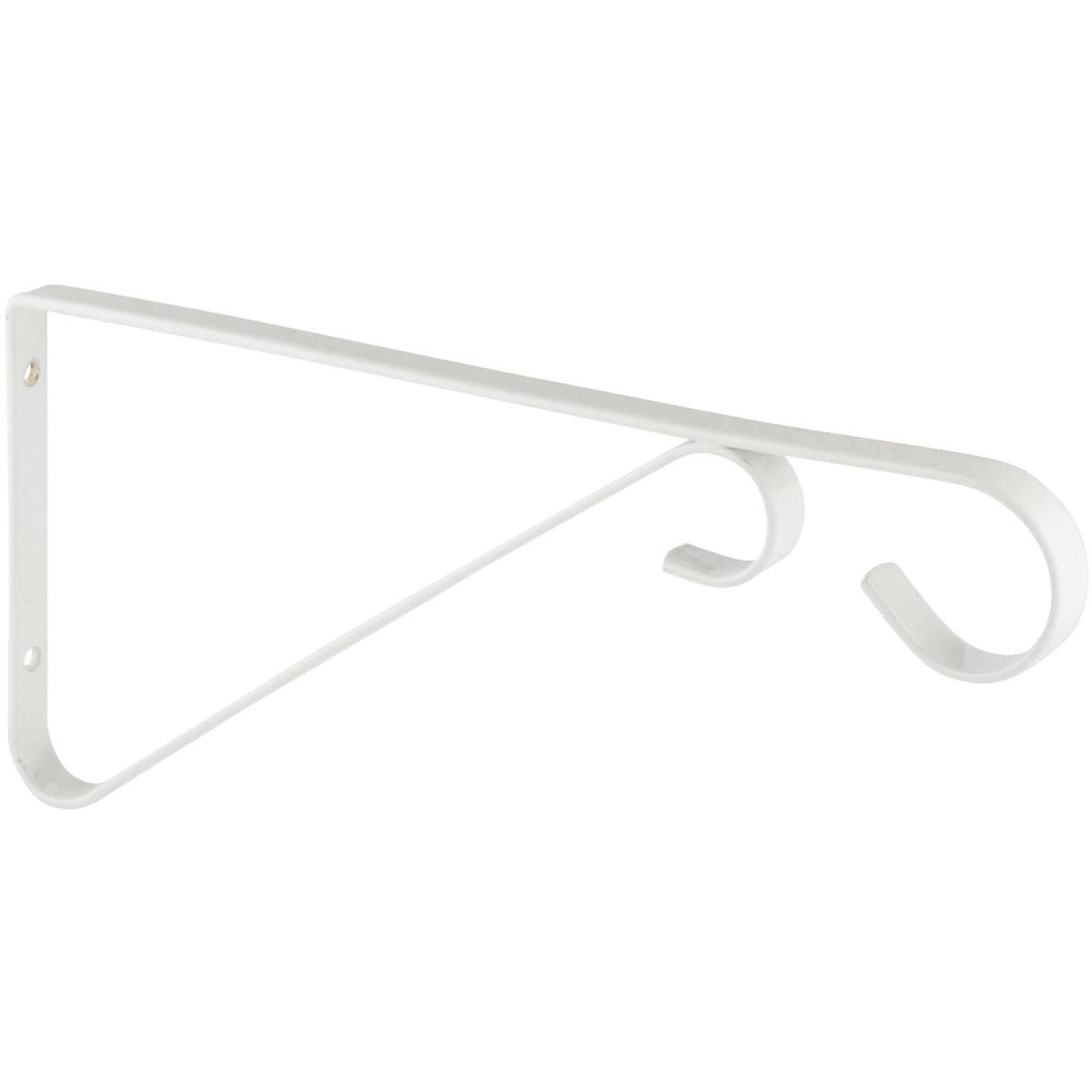 National 9 In. White Steel Hanging Plant Bracket Image 3