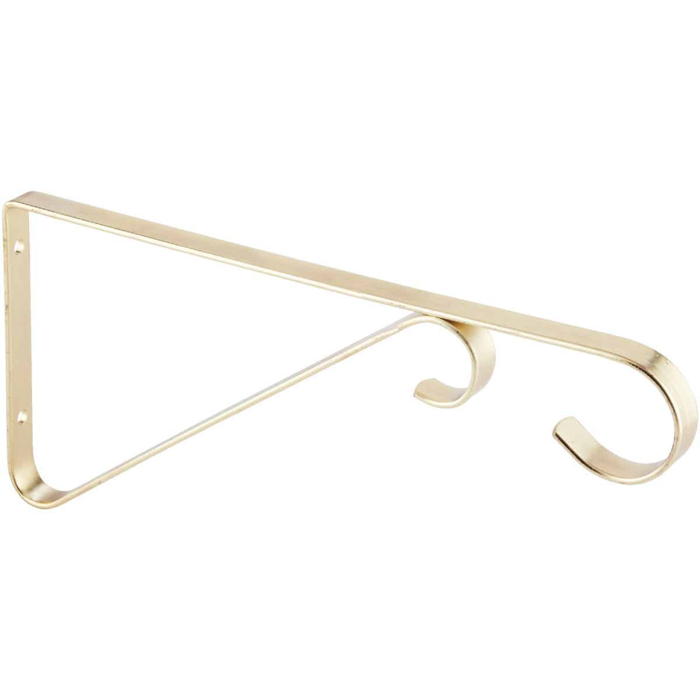 National 6 In. Brass Steel Hanging Plant Bracket Image 4
